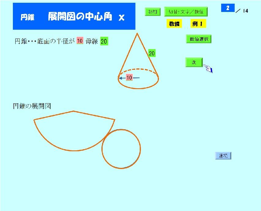 7-3 円錐の展開図と中心角: デ...